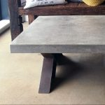 """Polished Concrete and Steel Coffee Table"" ""By Brutal Design"""