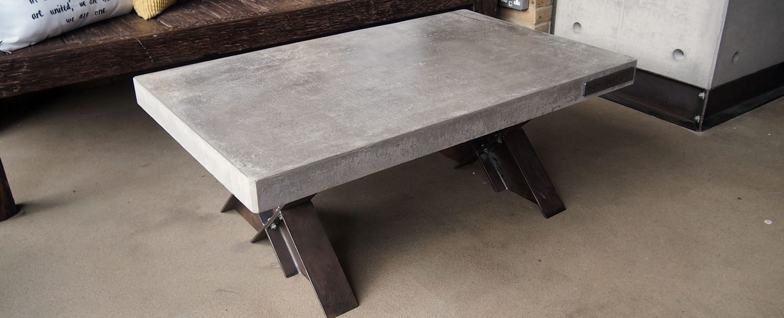 Concrete And Steel Furniture Brutal Design London