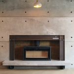 Concrete and steel fireplace By Brutal Design