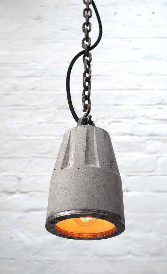 Concrete Pendant Lamp Made In London Brutal Design