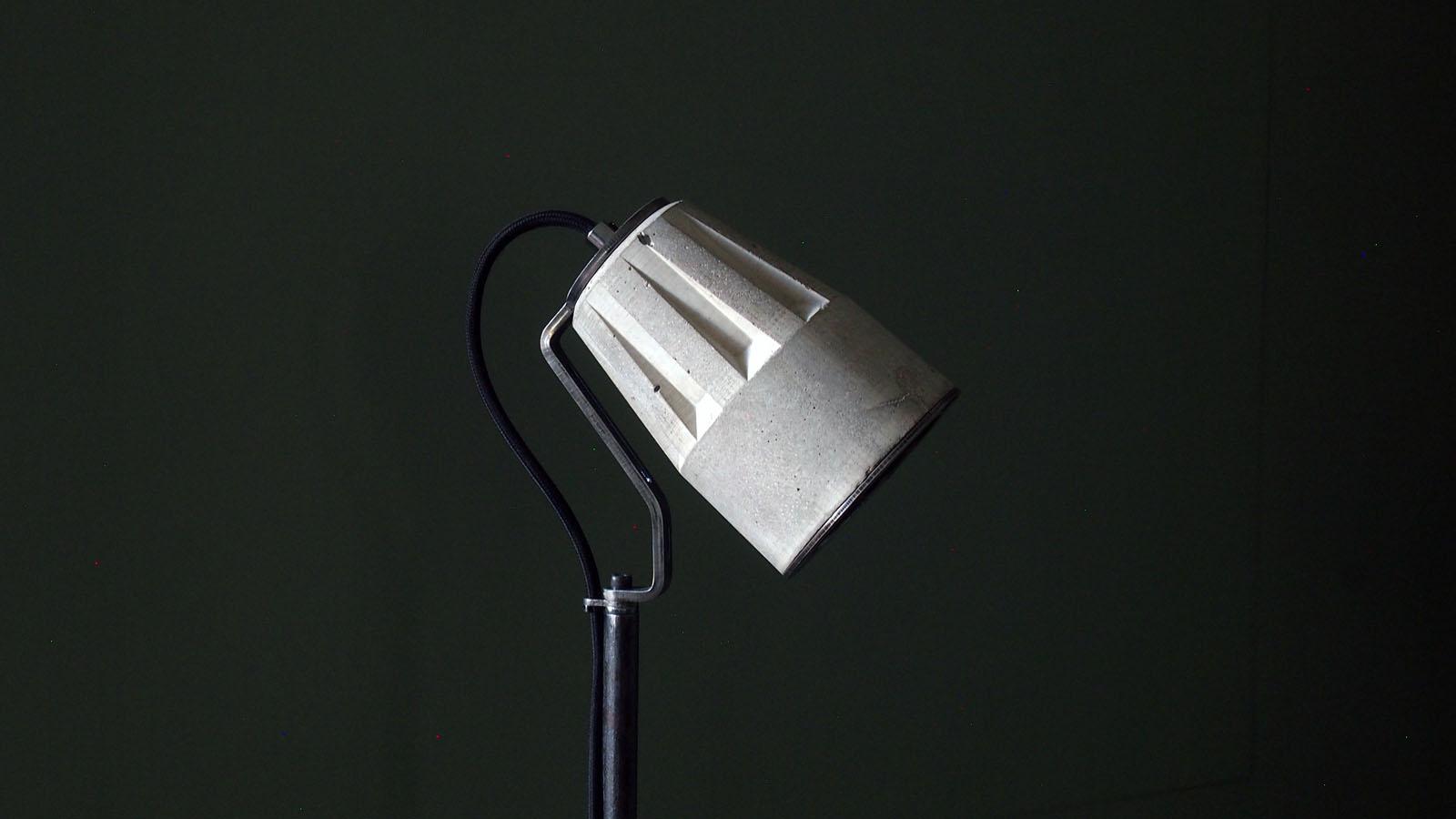 """""""Concrete floor lamp"""" """"Concrete Standard Lamp"""" """"Concrete Lamps"""" """"by Brutal Design"""""""