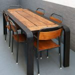 Bench Table - Reclaimed timber and steel