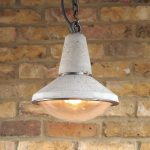 """Concrete Pendant Light""""Concrete light with glass dome lens"" "" by Brutal Design"""