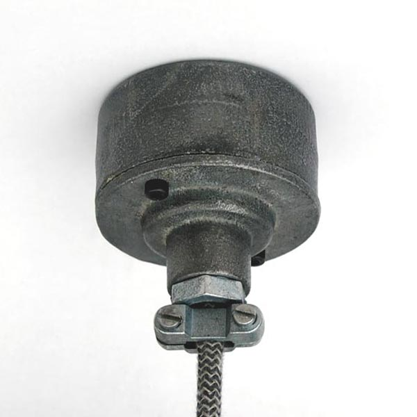 Industrial ceiling rose raw iron or galvanised conduit