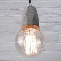 """Concrete bare bulb pendant light fitting"" ""by Brutal Design"""