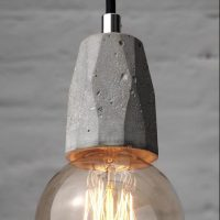 """Exposed bulb pendant light fitting with globe bulb"" ""By Brutal Design London"""