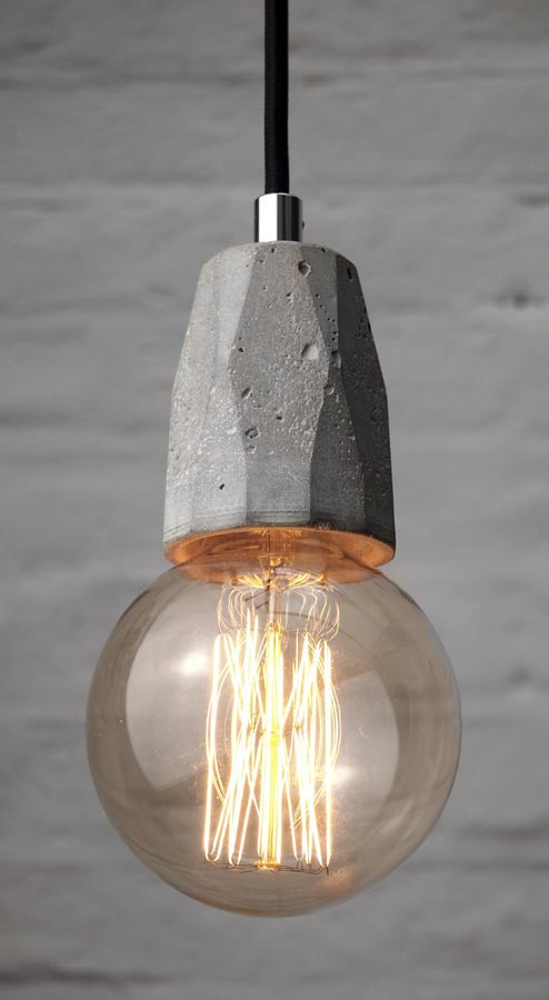 Exposed Bulb Pendant Light Fitting With Globe By Brutal Design