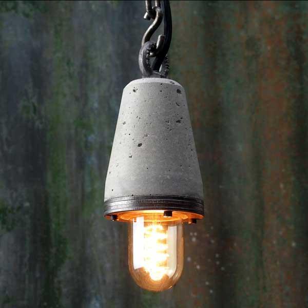 """Industrial Concrete Pendant Lamp"""
