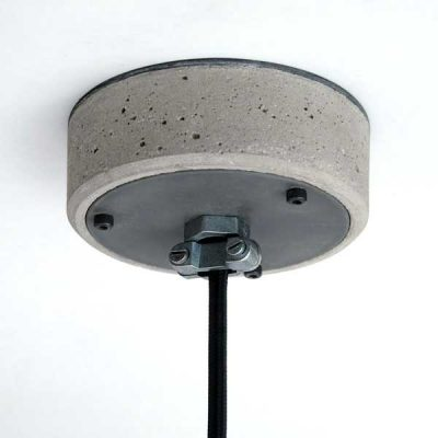 """Concrete and Steel Ceiling Rose"" ""By Brutal Design"""