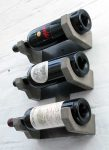 """The Grid Concrete and Steel Wine Rack"" ""By Brutal Design"""
