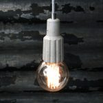 """Exposed bulb pendant light fitting"" ""Concrete exposed bulb"" ""by Brutal Design"""
