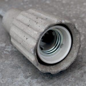 """""""Bare bulb concrete pendant light fitting"""""""