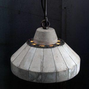 """'LUNAR' Concrete and steel pendent lamp"" ""by Brutal Design"""