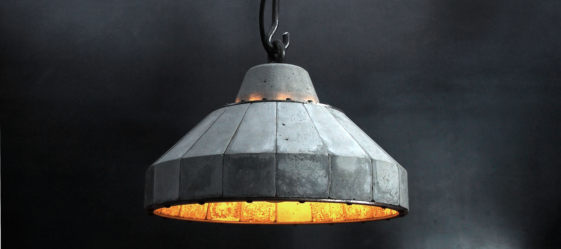 """'LUNAR' Concrete and steel pendent lamp"" ""by Brutal Design"""