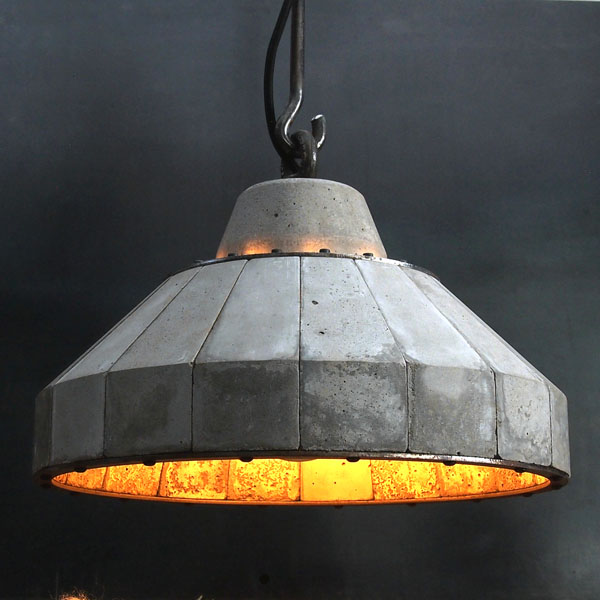 'LUNAR' Concrete and steel pendent lamp